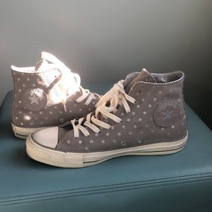 High top suede Converse All Star